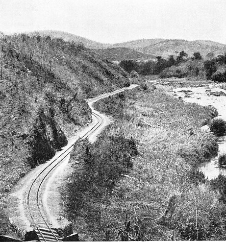 a section of the railway in Nyasaland