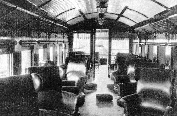 IN QUEENSLAND these attractively furnished parlour cars are attached to long-distance trains