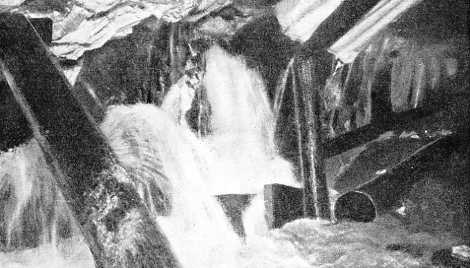 AN INUNDATION of the tunnel workings caused by the incursion of some cold springs