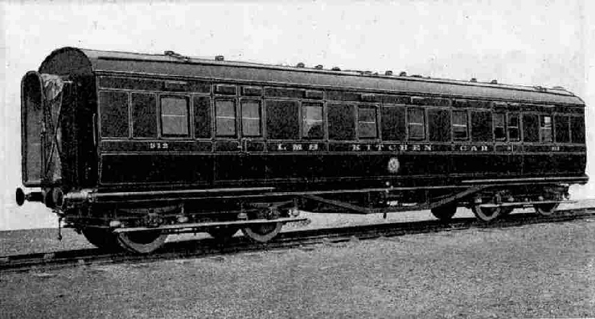 Exterior view of LMS Kitchen Car.