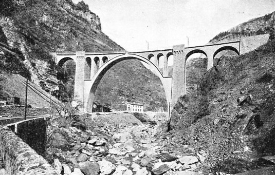 THE SCARASSONI VIADUCT, on the French line between Nice and the Italian frontier