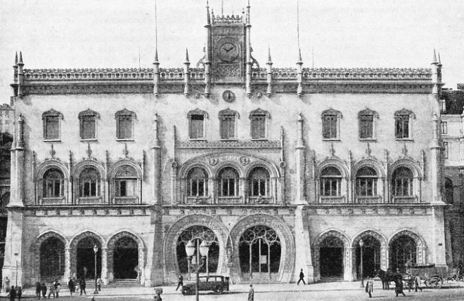 ROCIO TERMINUS in Lisbon, the focal point of the Portuguese Railways
