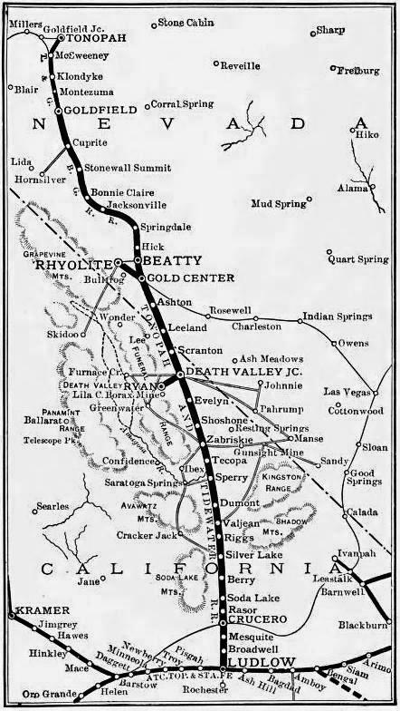 MAP OF THE DEATH VALLEY RAILWAY.