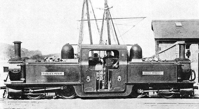 """JAMES SPOONER"" a typical double-boiler ""Fairlie"" type engine"