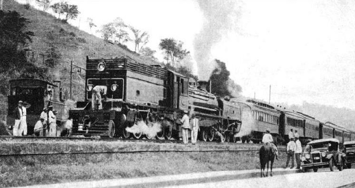A Beyer-Garratt Locomotive on the Leopoldina Railway