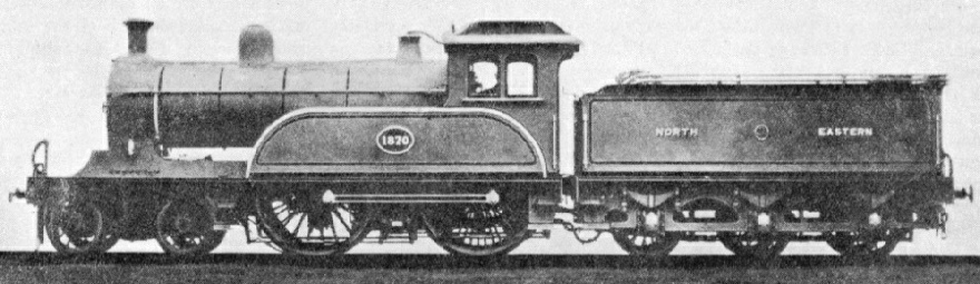 A North Eastern 4-4-0 express engine of 1896