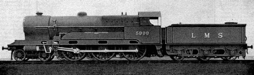 No. 5999 Vindictive, one of the re-built Claughtons