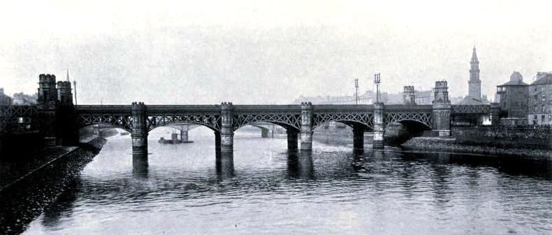 HE GLASGOW AND SOUTH WESTERN BRIDGE OVER THE CLYDE, AT GLASGOW, , Glasgow & South Western Railway