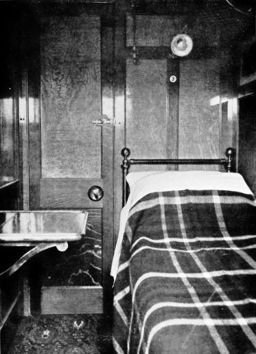 Sleeping Berth on the Plymouth Mail London & South Western Railway