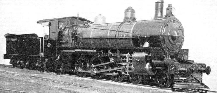 THIS 4-6-2 TYPE PASSENGER LOCOMOTIVE is used on the Queensland railways