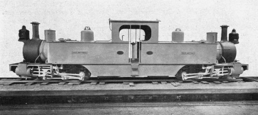 "THE ""FAIRLIE"" LOCOMOTIVE USED ON THE BOLIVIAN NARROW GAUGE RAILWAYS"