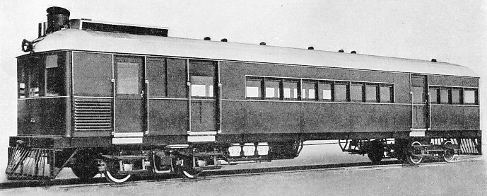"A ""SENTINEL-CAMMELL"" STEAM RAIL COACH operating on the 5 ft 6 in gauge lines of Ceylon"