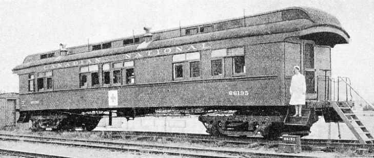 RED CROSS CARS are a special feature of the Canadian railways