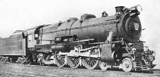 4-6-2 locomotive of the K-4S Class on the Pennsylvania Railroad