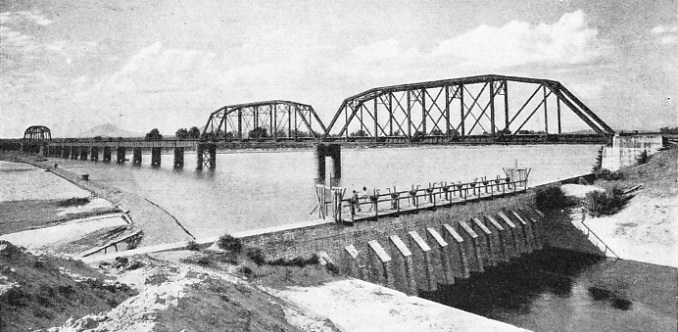 THE CULIACAN RIVER BRIDGE, built by the Southern Pacific Railroad of Mexico