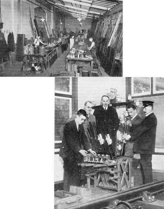 Inside the carriage works at York; and instructing future signalmen