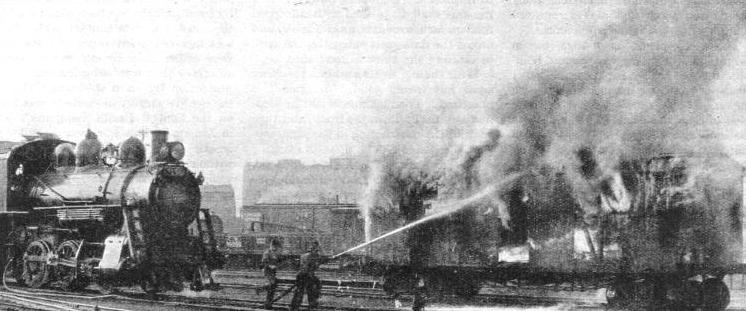 FIRE-FIGHTING APPARATUS carried on the locomotive