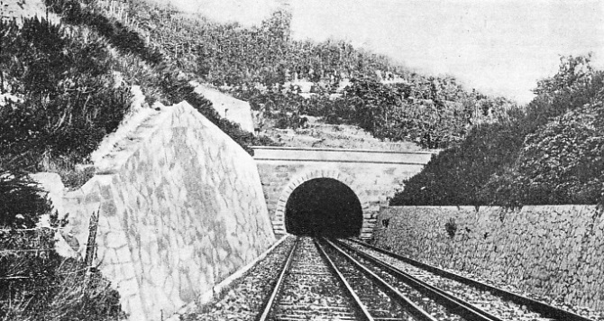 THE CAMPI FLEGREI TUNNEL on the new direct railway route between Rome and Naples