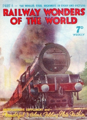 Flyer promoting the publication of railway wonders of the world