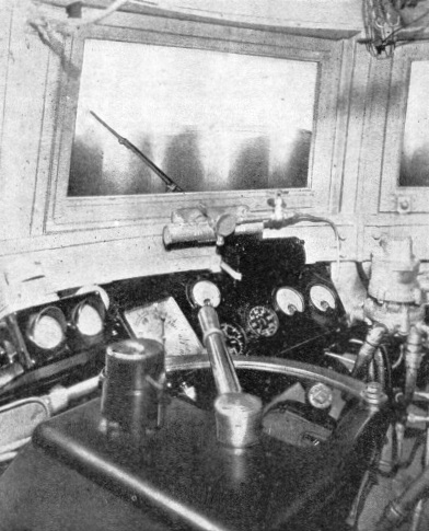 The control cabin of the Union Pacific Streamlined Express