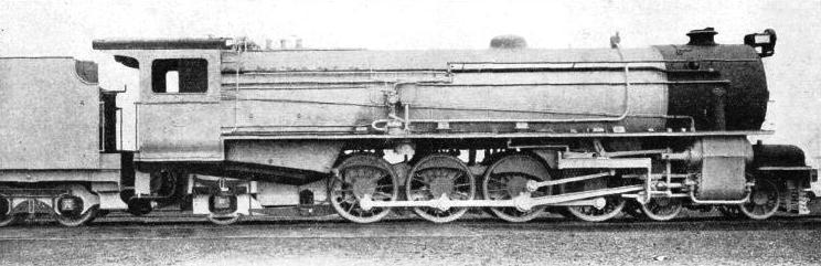 A THREE-CYLINDER LOCOMOTIVE built in England for Nigeria