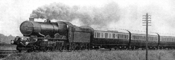 "The ""Cornish Riviera Express"" approaching Westbury"