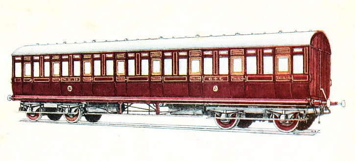 NORTH EASTERN RAILWAY THIRD CLASS CARRIAGE No. 646