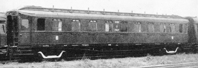 A steel carriage of the Polish State Railways