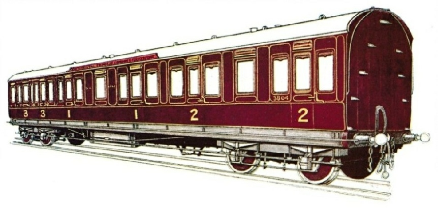 South Eastern & Chatham Railway Composite Carriage, No. 3804