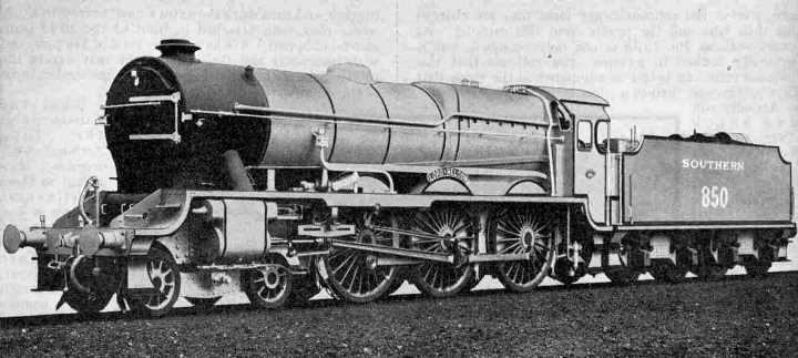 Southern Railway 4-6-0 Express Passenger Locomotive No. 850, Lord Nelson