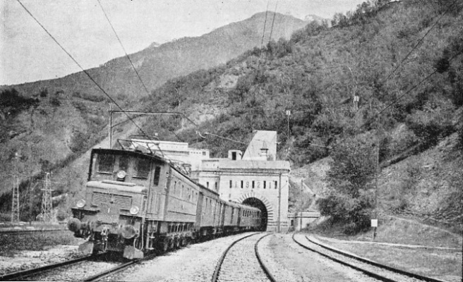 THE NORTH PORTAL of the Simplon as seen after the completion of the second tunnel in 1921