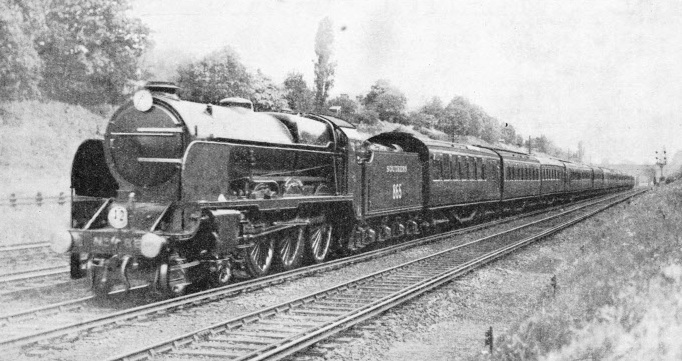 "The ""Atlantic Coast Express"" in Clapham Cutting"