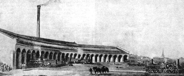 The original locomotive shed at King's Cross Station