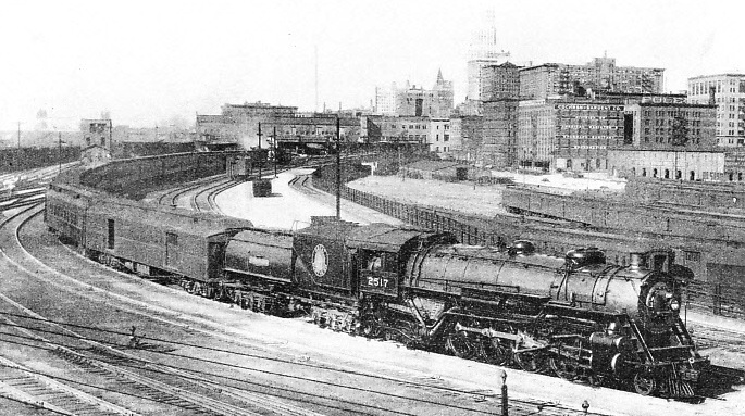 "THE ""EMPIRE BUILDER"", one of the crack expresses of the Great Northern Railway of America"