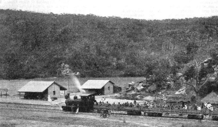 A TEMPORARY STATION at Port Weir on the northern extension of the Lagos Railway