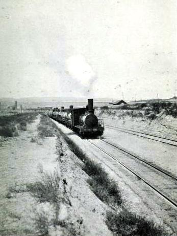A TRAIN OF OIL-TANKS ON THE BAKU-BATOUM RAILWAY