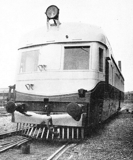 AN ARMSTRONG WHITWORTH RAIL-CAR in service on the Buenos Ayres Western Railway