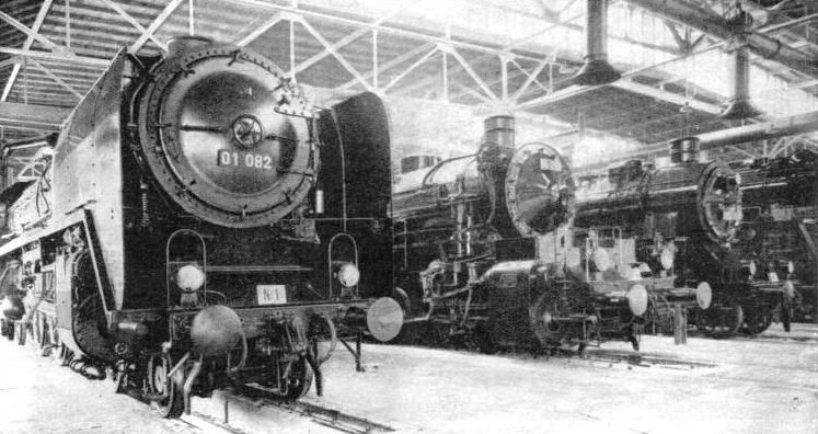 MODERN GERMAN LOCOMOTIVES tend to increase in size