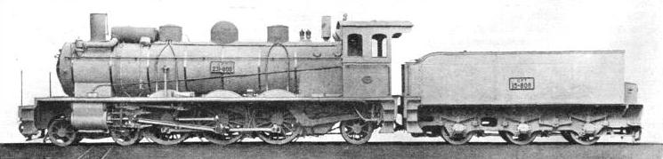 "A METRE-GAUGE ""PACIFIC"" ENGINE used on the Tunisian Railways"
