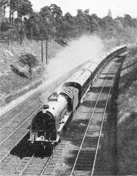 "The ""Atlantic Coast Express"" in Weybridge Cutting"