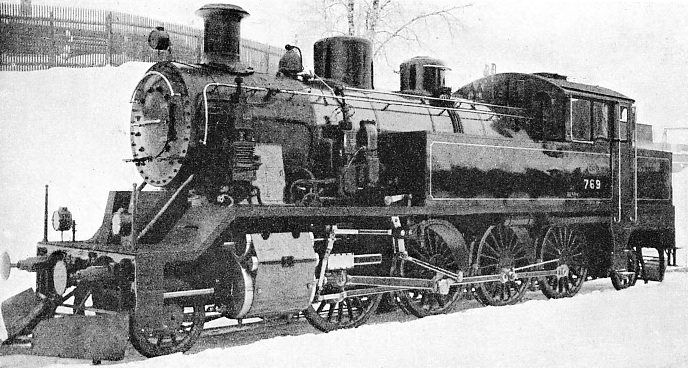 "A ""MIKADO"" TANK ENGINE employed for passenger traffic on the lines of the Finnish State Railways"