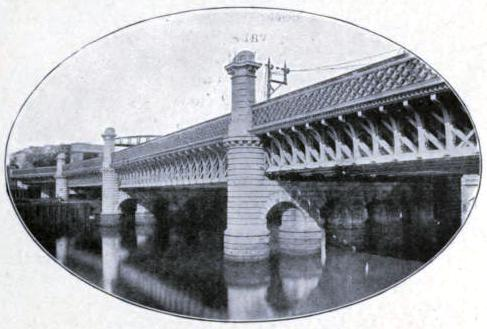 THE CALEDONIAN BRIDGE OVER THE CLYDE AT GLASGOW