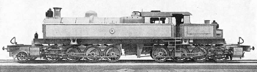 "AN ARTICULATED TANK LOCOMOTIVE, one of three 2-8-0 + 0-8-0 ""Kitson-Meyer"" type engines"
