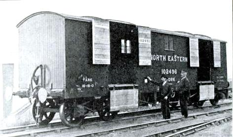 A 25-ton Covered Goods Wagon, North Eastern Railway