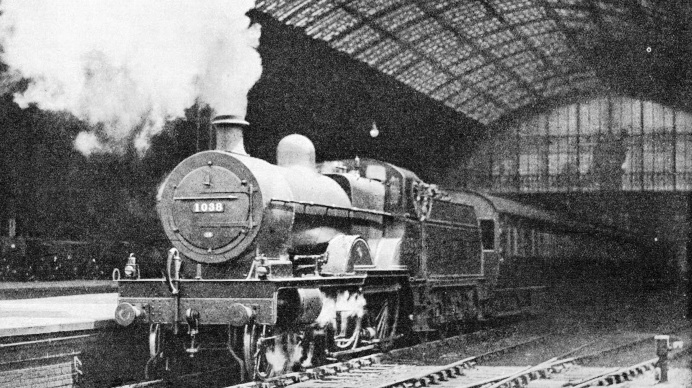 "The ""Yorkshireman"" leaving St Pancras Station"