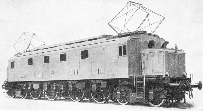 A MODERN ELECTRIC LOCOMOTIVE built for express work on the Italian State Railways