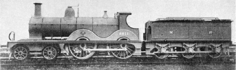 4-4-0 designed for the Midland Railway by S W Johnson