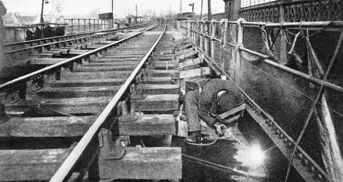 Welding on the Sharnbrook Viaduct