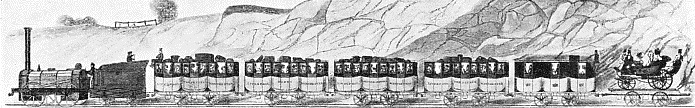 A passenger train of 1837