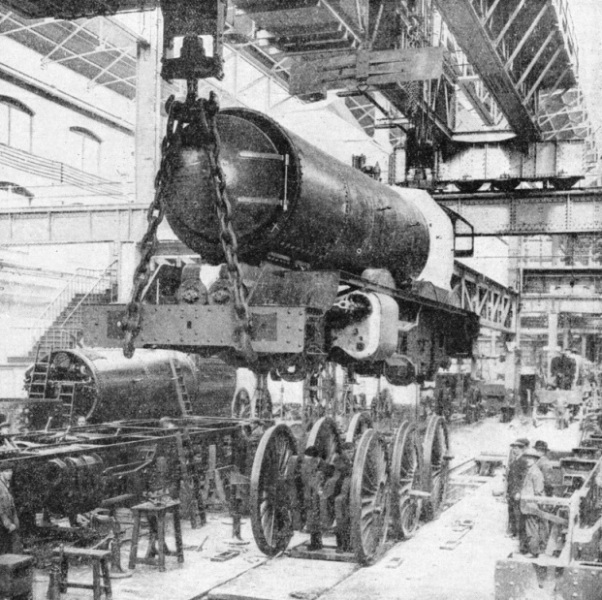 "Fitting the wheels of a ""King"" at Swindon"